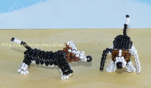 perle de rocaille chien